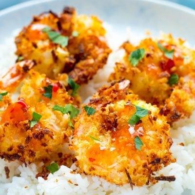 Air Fryer Crunchy Panko Coconut Shrimp