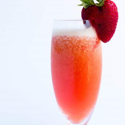 Orange Strawberry Mimosa Slush
