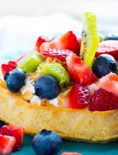 Belgian Waffle Yogurt & Fruit Parfait