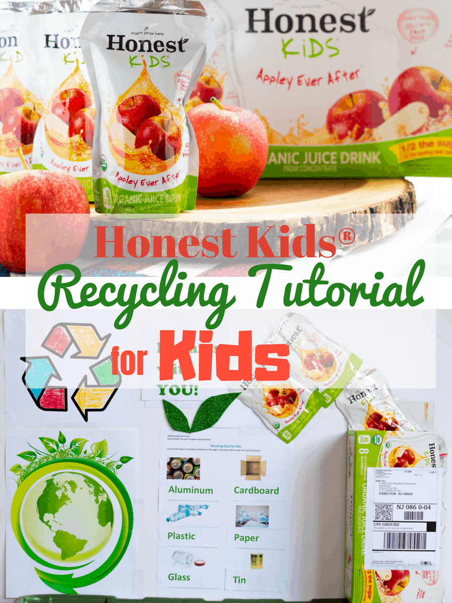 Teach your kids how to recycle by making this EASY ref board to hang above your recycling containers! A recycling tutorial for kids w/ FREE printables!