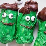 Frankenstein Banana Pops