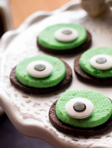 Super Easy Oreo One-Eyed Monster Cookies