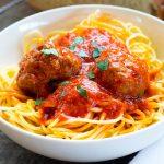 Homemade Italian Meatballs & Tomato Sauce