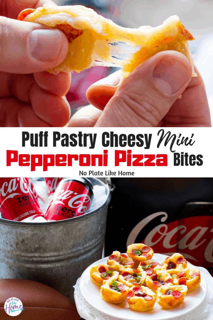 Easy Puff Pastry Cheesy Mini Pepperoni Pizza Bites