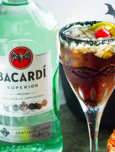 BACARDÍ® rum and Coke Bat Tears Halloween Cocktail
