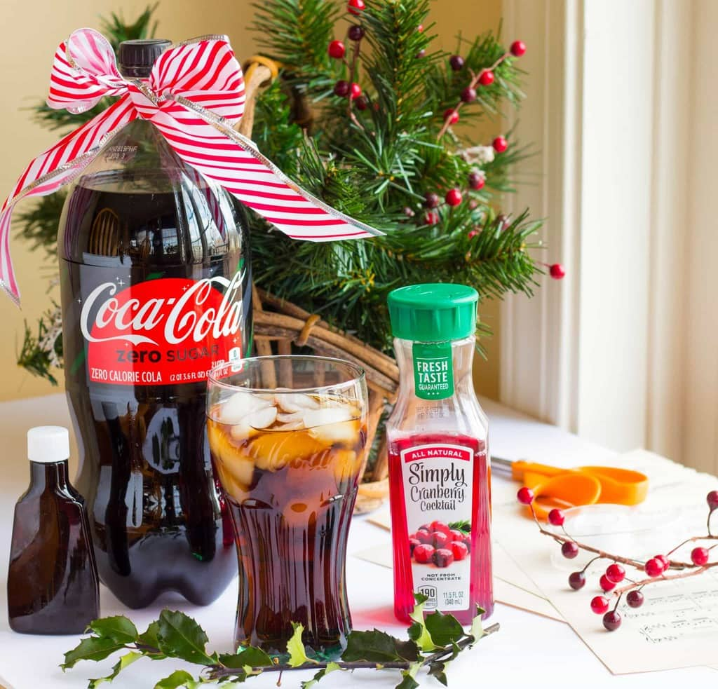 Cranberry Vanilla Coke-tail Mocktail