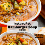 Instant Pot Easy Hamburger Soup in 20 Min!!