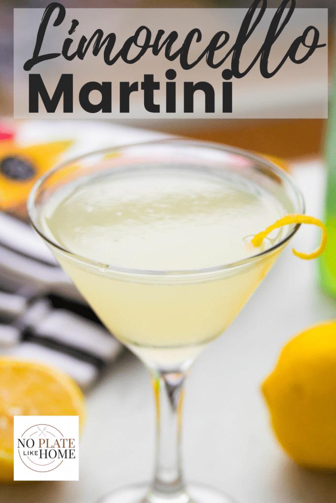 Limoncello Martini Cocktail Recipe