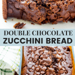 Double Chocolate Zucchini Bread Recipe Pin