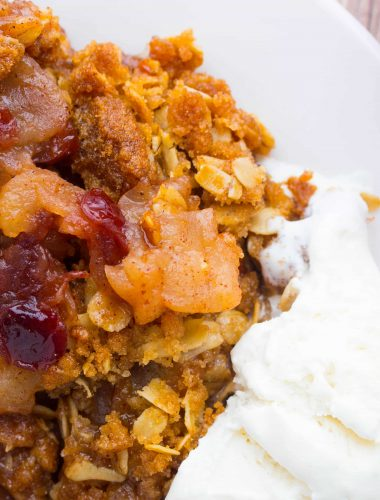 Apple Cranberry Crisp with Dried Cranberries