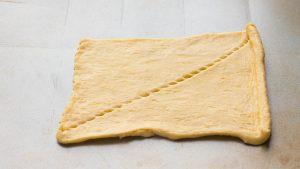 Bone-shaped ham and cheese crescent rolls