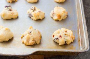 White Chocolate Cranberry Macadamia Shortbread Cookies