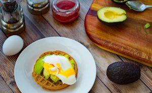 Avocado Egg Waffle