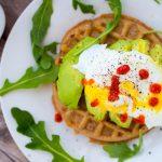 Avocado Egg Sriracha Waffle