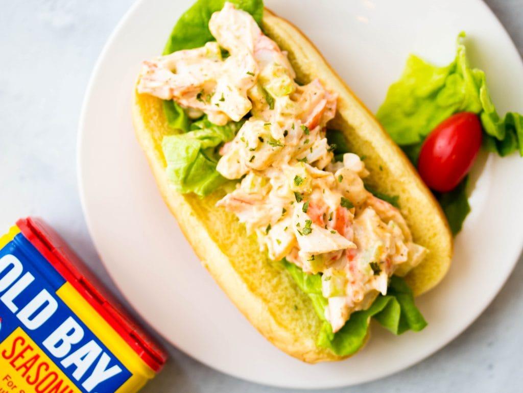 Crab Salad Roll Sandwich