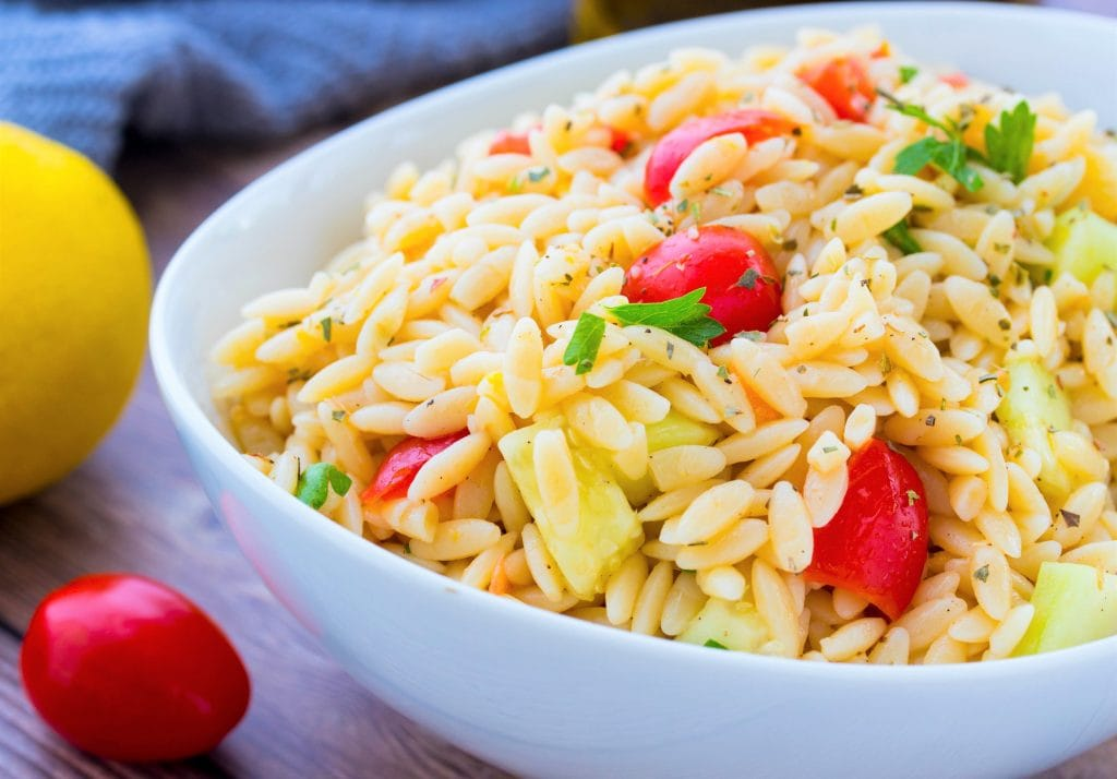 Lemon Orzo Pasta Salad Recipe