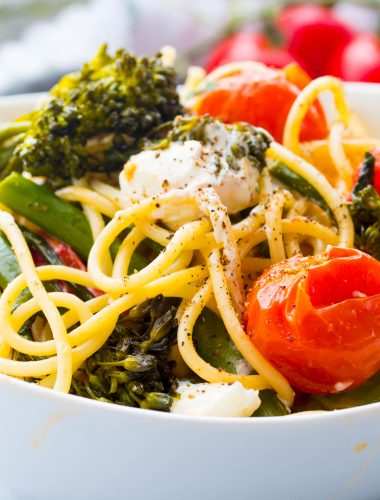 Broccolini with Pasta and Goat Cheese