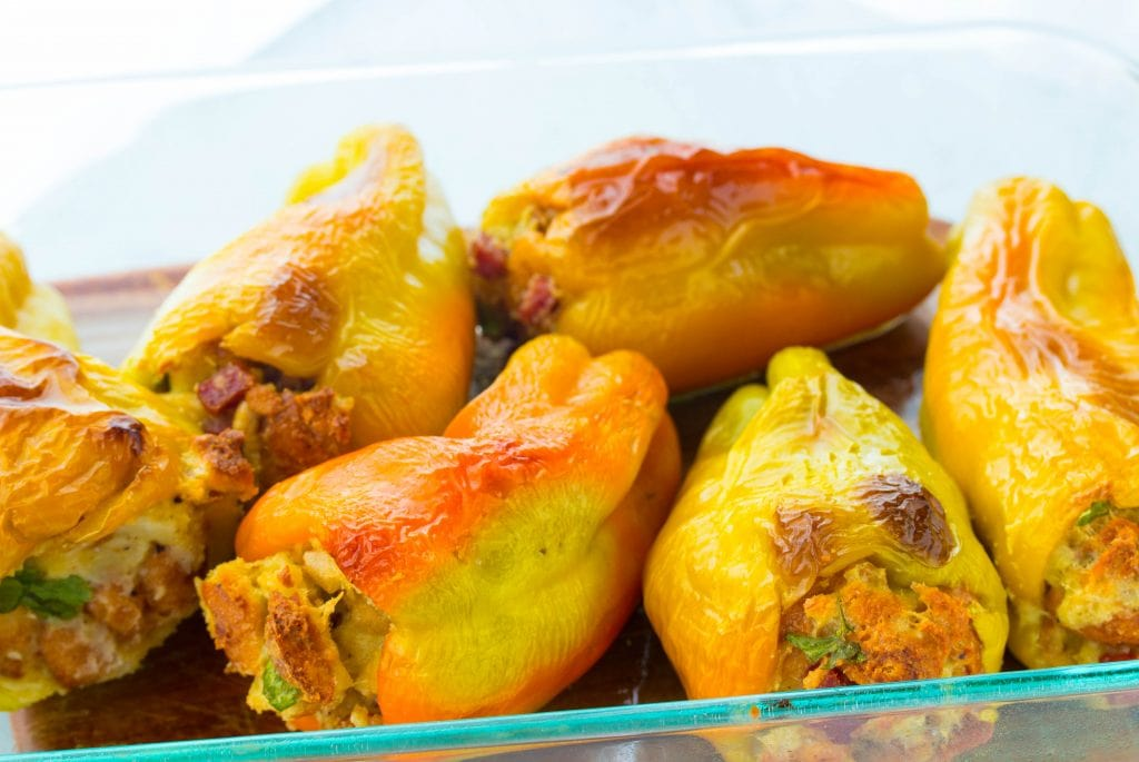 Italian Stuffed Peppers with Bread Stuffing Cubanelle peppers (a.k.a. frying peppers) and stuffed with a delicious Italian bread stuffing flavored with Italian dried sausage. This is an authentic Italian stuffed peppers recipe from southern Italy. EASY-to-make!!