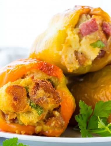Italian Stuffed Peppers with Bread Stuffing