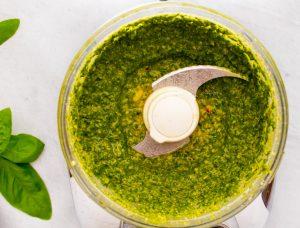 how to make basil pesto sauce