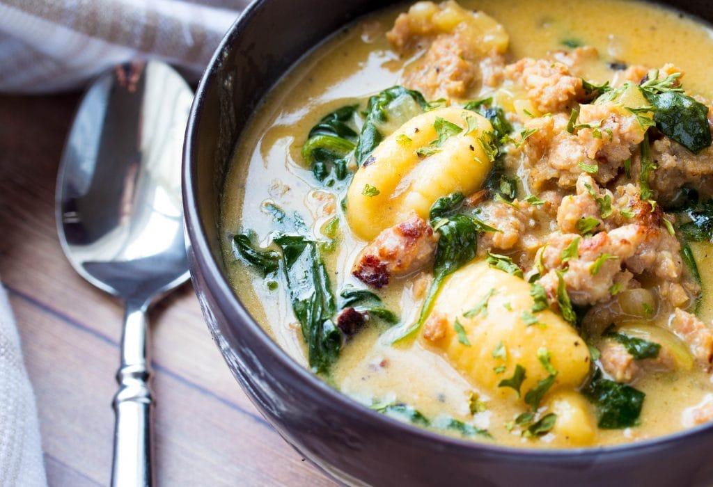 Creamy Sausage Gnocchi Soup