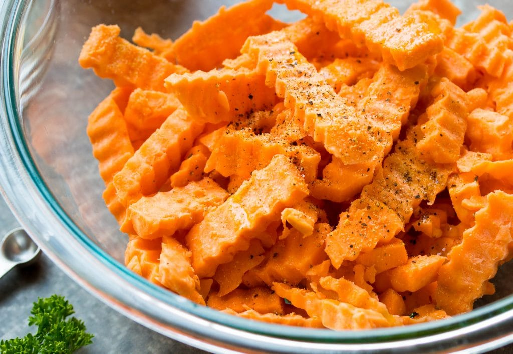 Garlic Parmesan Sweet Potato Fries