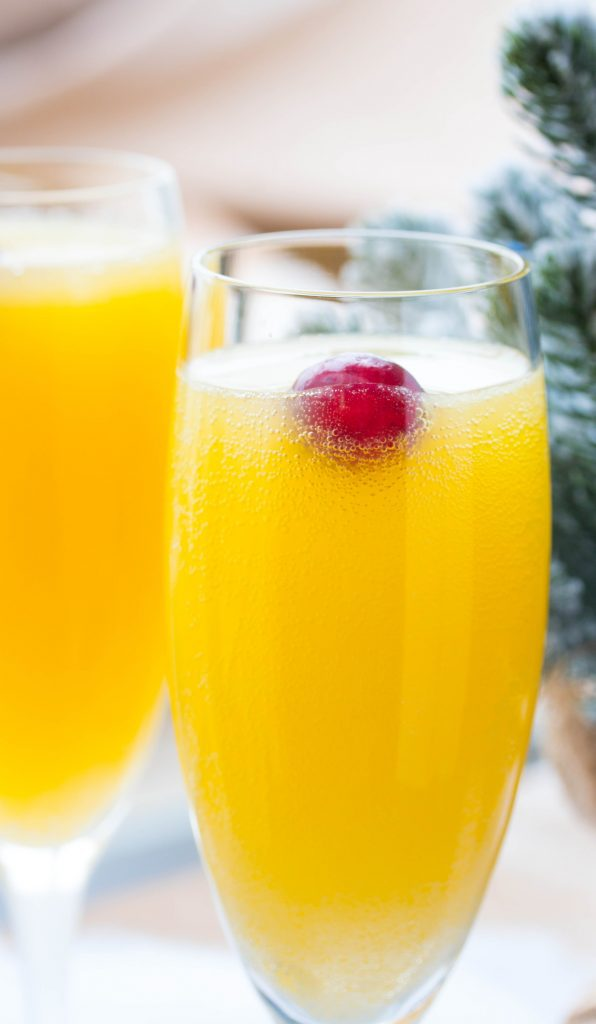 Cranberry Orange Mimosas Recipe