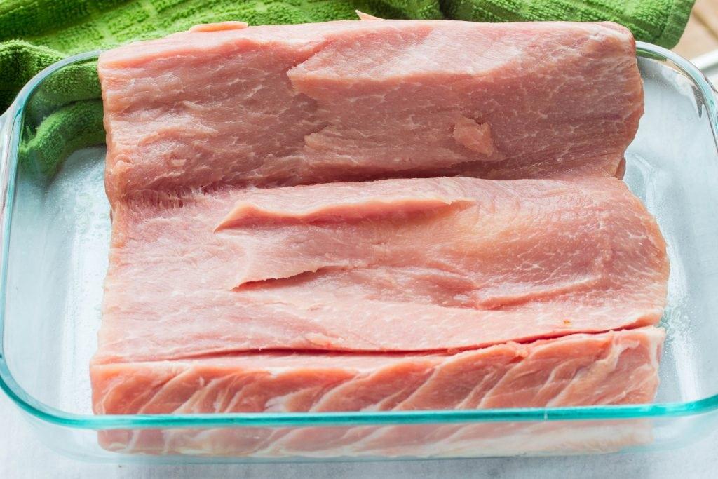 pork loin cut for stuffing