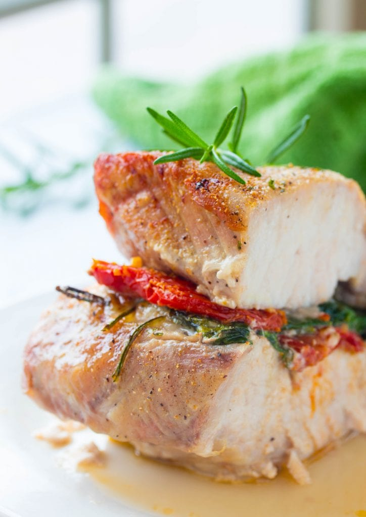 Stuffed Pork Loin with Spinach and Sun Dried Tomatoes