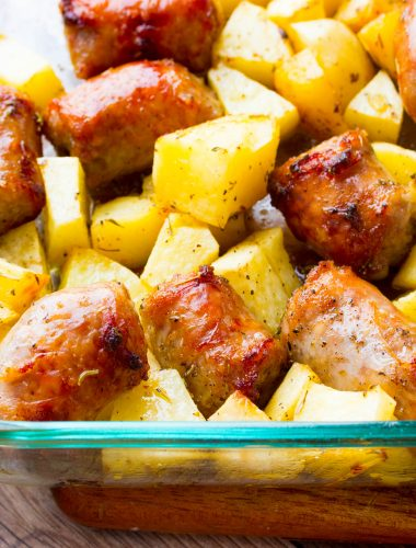 Italian Sausage and Potatoes in Oven