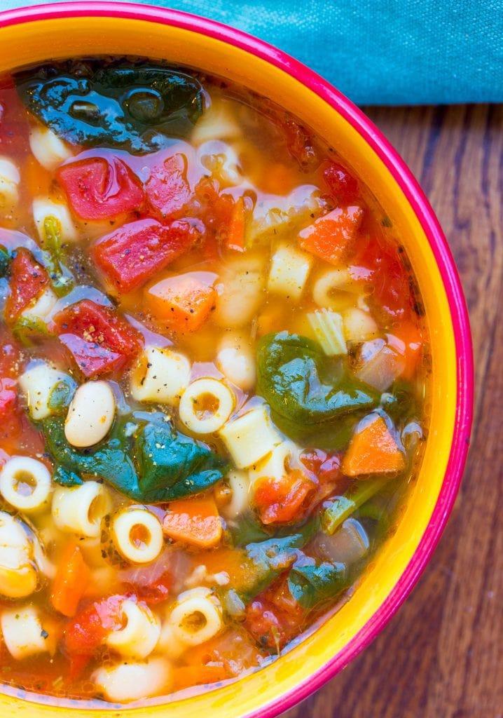 Vegan Minestrone Soup instant pot