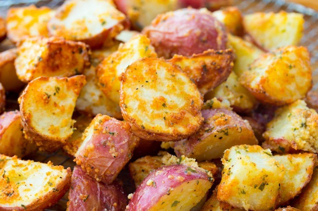 Air Fryer Garlic Parmesan Potatoes
