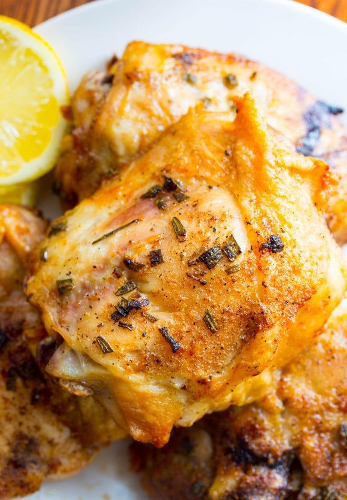 Air Fryer Garlic Rosemary Chicken Thighs