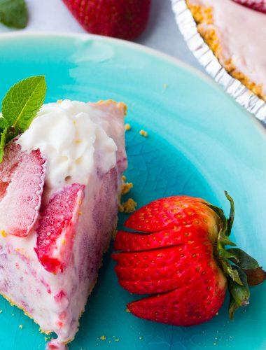 Frozen Strawberry Cream Cheese Pie