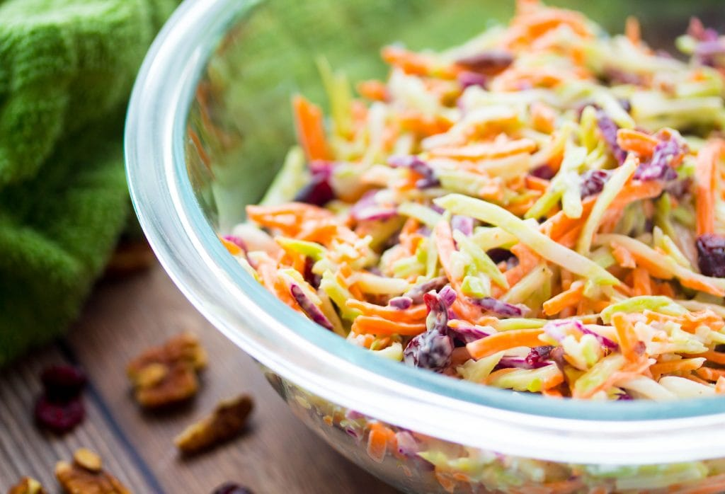 Broccoli Slaw with Craisins and Pecans