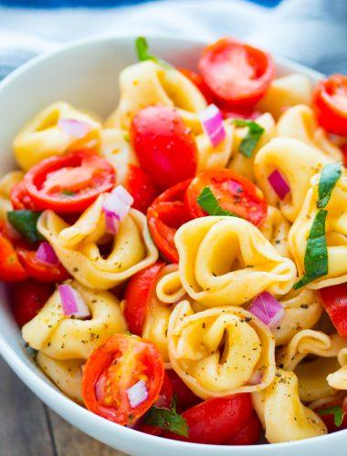 Tomato Basil Tortellini Salad