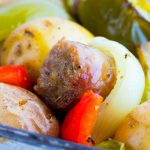 Italian Sausage Peppers & Onions Sheet Pan Dinner
