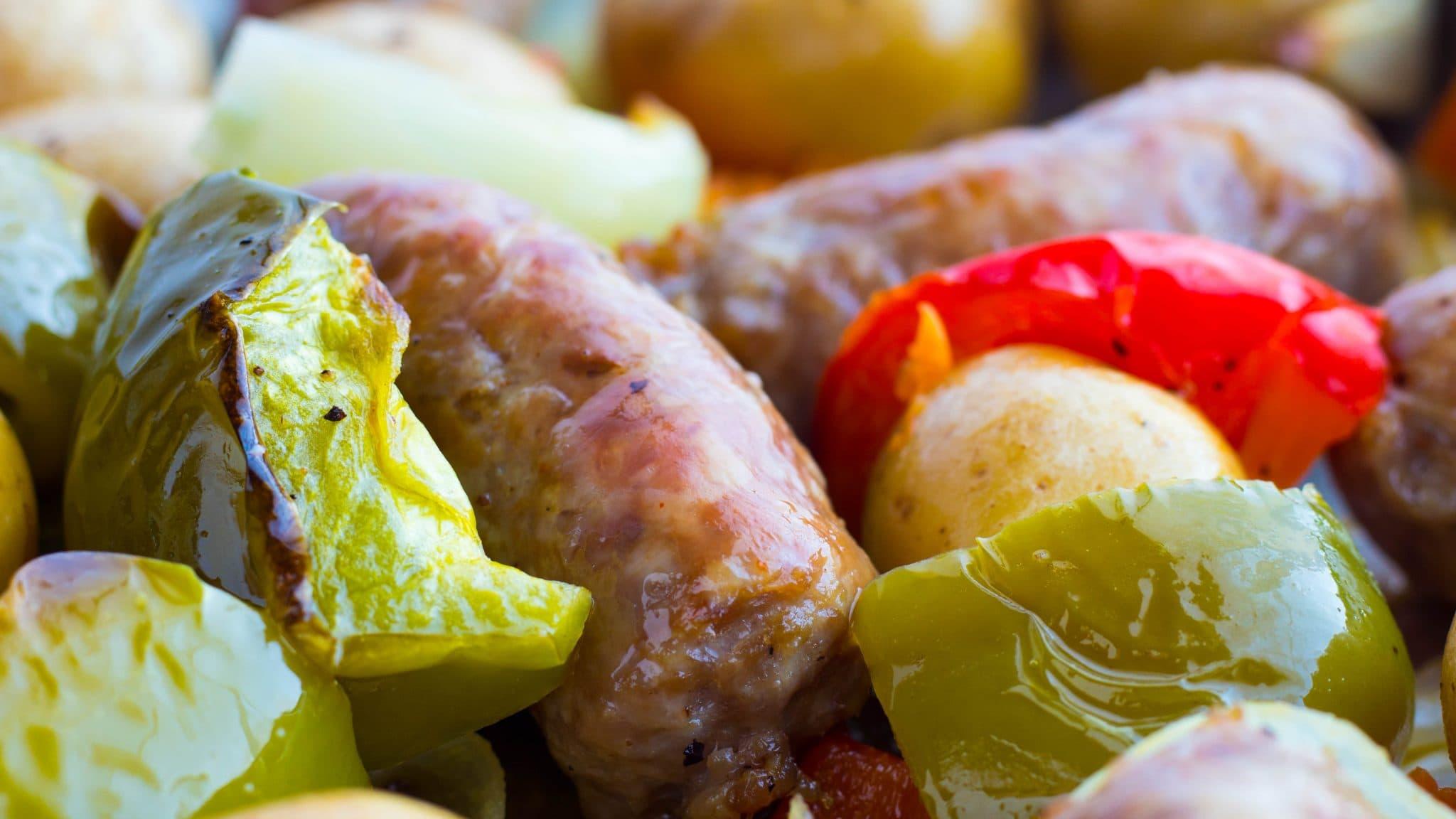 Italian Sausage Peppers & Onions Sheet Pan Dinner