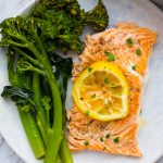 Lemon Garlic Grilled Salmon Foil Packet with Broccolini