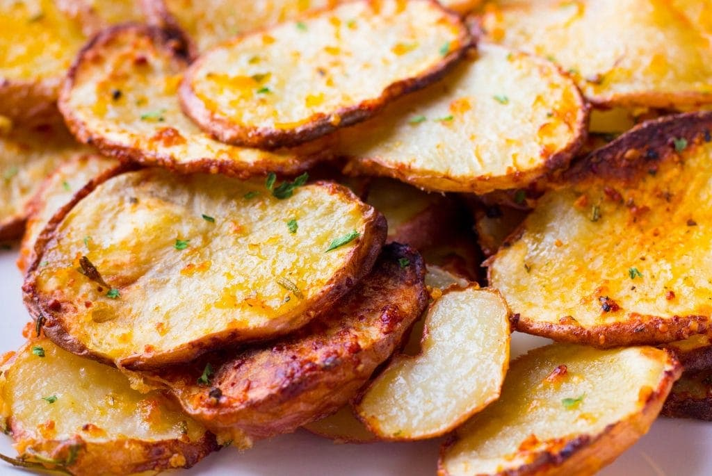 Parmesan Rosemary Air Fryer Roasted Potatoes