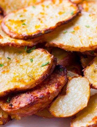 Parmesan Rosemary Air Fryer Roasted Potatoes
