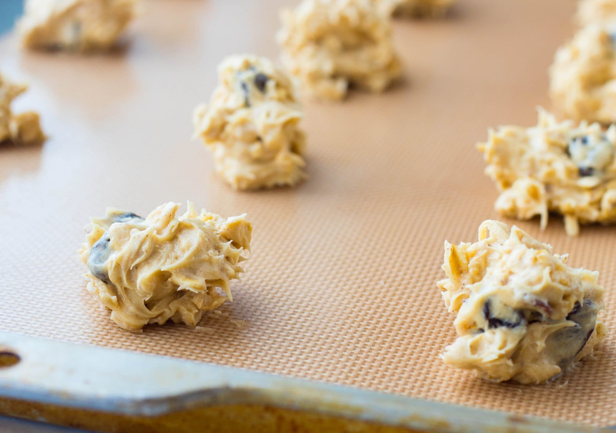 Chewy Cherry Granola Cookie Dough