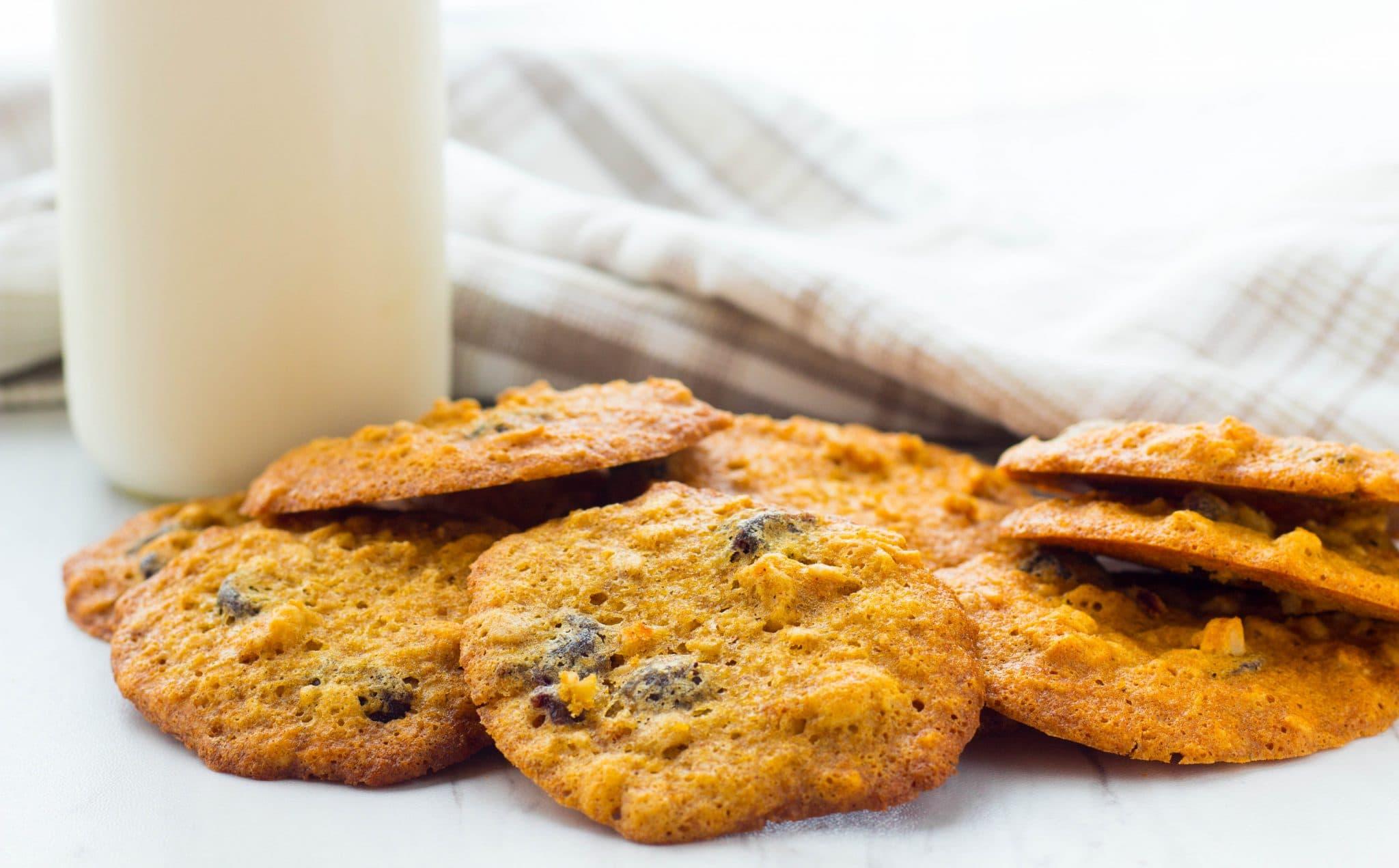Chewy Cherry Granola Cookies