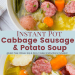 Instant Pot Cabbage Sausage Potato Soup
