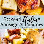 Baked Italian Sausage & Potatoes