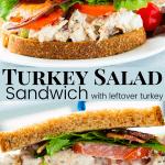 Turkey Salad Sandwich with leftover turkey