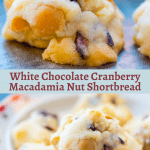 White Chocolate Cranberry Macadamia Shortbread